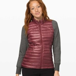 Lululemon Pack It Down Vest *Shine  Chianti